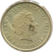 1 Dollar - Elizabeth II (Common Wombat) -  obverse