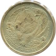 1 Dollar - Elizabeth II (Common Wombat) -  reverse