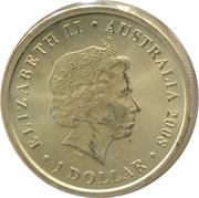 1 Dollar - Elizabeth II (Frilled Neck Lizard) -  obverse