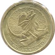 1 Dollar - Elizabeth II (Frilled Neck Lizard) -  reverse