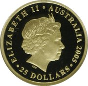 25 Dollars - Elizabeth II (The Sovereign) -  obverse