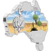 1 Dollar - Elizabeth II (Emu) -  reverse