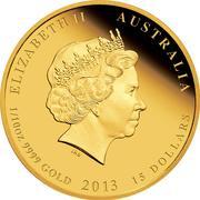 """15 Dollars - Elizabeth II (""""Lunar Year Series II"""" Silver Bullion Coinage) -  obverse"""
