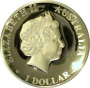 1 Dollar - Elizabeth II (4th Portrait - Kangaroo - Silver Proof High Relief) -  obverse