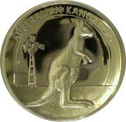1 Dollar - Elizabeth II (4th Portrait - Kangaroo - Silver Proof High Relief) -  reverse