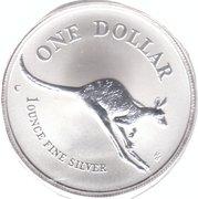 1 Dollar - Elizabeth II (Kangaroo Silver Bullion Coinage) -  reverse