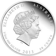 50 Cents - Elizabeth II (Australian possum) -  obverse