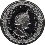 25 Dollars - Elizabeth II (Queen Mother) -  reverse