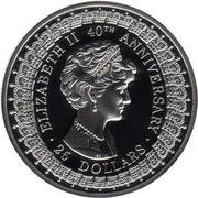 25 Dollars - Elizabeth II (Princess Diana) -  reverse
