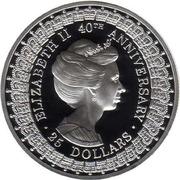 25 Dollars - Elizabeth II (Princess Anne) -  reverse