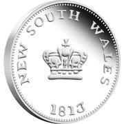 25 Cents - Elizabeth II (Australian Holey Dollar and Dump) -  reverse