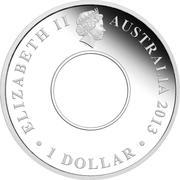 1 Dollar - Elizabeth II (4th Portrait - 200th Anniversary of the Holey Dollar and Dump) -  obverse