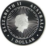 1 Dollar - Elizabeth II (4th Portrait - Opal Kangaroo) -  obverse