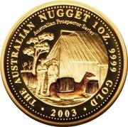 100 Dollars - Elizabeth II (4th Portrait - Australian Nugget - Gold Bullion Coin) – reverse