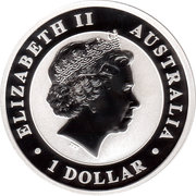 1 Dollar - Elizabeth II (4th Portrait - The Australian Stock Horse - Silver Bullion Coin) -  obverse