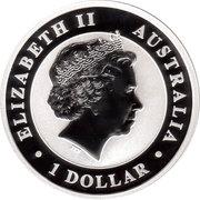 1 Dollar - Elizabeth II (The Australian Stock Horse - Silver Bullion Coinage) -  obverse