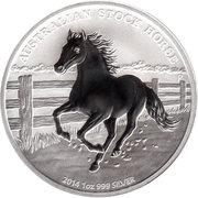 1 Dollar - Elizabeth II (The Australian Stock Horse - Silver Bullion Coinage) -  reverse