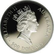 500 Dollars - Elizabeth II (3rd Portrait - Koala - Platinum) -  obverse