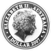 1 Dollar - Elizabeth II (Year of the Tiger; Silver Bullion) -  obverse