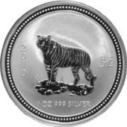 1 Dollar - Elizabeth II (Year of the Tiger; Silver Bullion) -  reverse
