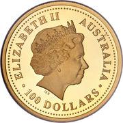 """100 Dollars - Elizabeth II (""""Lunar Year Series"""" Gold Bullion Coinage) – obverse"""