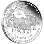 """50 Cents - Elizabeth II (""""Lunar Year Series II"""" Silver Bullion Coinage) -  reverse"""