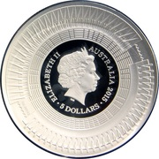 5 Dollars - Elizabeth II (ICC Cricket World Cup 2015) -  obverse