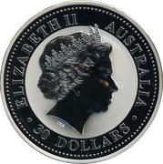 30 Dollars - Elizabeth II (4th Portrait - Year of the Goat - Silver Bullion Coin) -  obverse