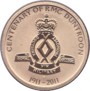 1 Dollar - Elizabeth II (Centenary of RMC Duntroon) -  reverse