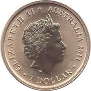 1 Dollar - Elizabeth II (Royal Australian Navy 100th Anniversary) -  obverse