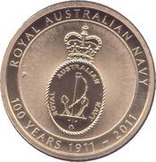 1 Dollar - Elizabeth II (Royal Australian Navy 100th Anniversary) -  reverse