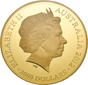 3000 Dollars - Elizabeth II (Gold Proof Like Lucky Dragon 1 Kilo; Coin Master) -  obverse