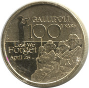 1 Dollar - Elizabeth II (Gallipoli) -  reverse