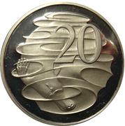 20 Cents - Elizabeth II (3rd portrait) -  reverse