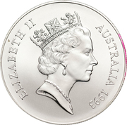 "1 Dollar - Elizabeth II (""Kangaroo"" Silver Bullion Coinage; Coin Master) -  obverse"