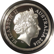 1 Dollar - Elizabeth II (30th Anniversary of the $1 Coin; High Relief Silver Proof) -  obverse