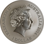 1 Dollar - Elizabeth II (4th Portrait - Kangaroo in Outback) -  obverse