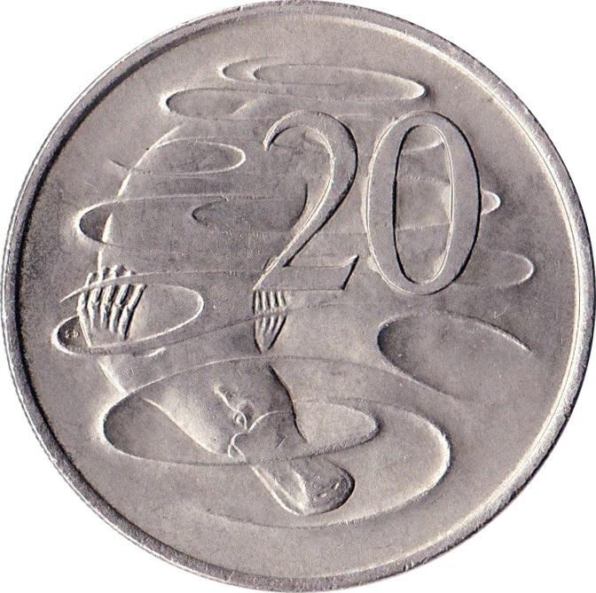 20 Cents Elizabeth Ii 2nd Portrait Australia Numista
