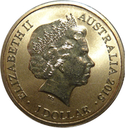1 Dollar - Elizabeth II (4th Portrait - Alphabet Collection - Letter F) -  obverse