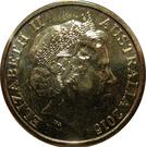 1 Dollar - Elizabeth II (4th Portrait - WW1 War Heroes Red Poppy) – obverse