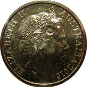 1 Dollar - Elizabeth II (4th Portrait - WW1 War Heroes Red Poppy) -  obverse