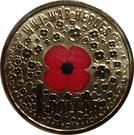 1 Dollar - Elizabeth II (4th Portrait - WW1 War Heroes Red Poppy) – reverse