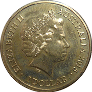 1 Dollar - Elizabeth II (4th Portrait - Year of the Goat) -  obverse