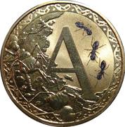 1 Dollar - Elizabeth II (4th Portrait - Alphabet Collection - Letter A) -  reverse