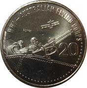 20 Cents - Elizabeth II (4th Portrait - Australian Flying Corps) -  reverse