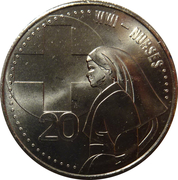 20 Cents - Elizabeth II (Nurses) – reverse