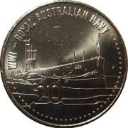 20 Cents - Elizabeth II (Royal Australian Navy) – reverse