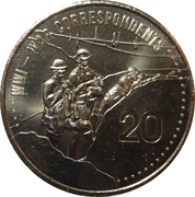 20 Cents - Elizabeth II (War Correspondents) -  reverse