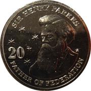 20 Cents - Elizabeth II (Sir Henry Parkes) – reverse