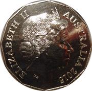 50 Cents - Elizabeth II (El Alamein) – obverse